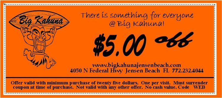 Save big when you shop at Big Kahuna with the help of this fantastic deal: Site Wide Promo Code & Deals From Big Kahuna's. Visit Big Kahunaand know more best discounts near to you. Shop now!No voucher code,promo code and discount code needed to be applied.